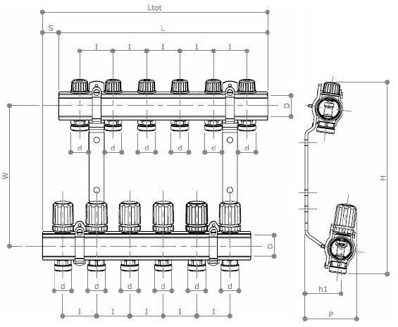 Kit colector Quadro D1
