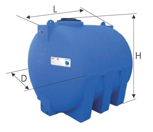 Rezervor apa cilindric orizontal V 1500 2000 3000 litri Valrom