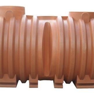 Rezervor apa cilindric orizontal subteran V 5000 litri 1 gura fara capac Valrom