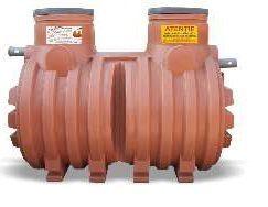 Separator grasimi necarosabil PEHD subteran NG 15 cilindric orizontal Valrom