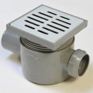 Sifon pardoseala VLR 1IN D40-1OUT D50 H80 prelungire si gratar inox