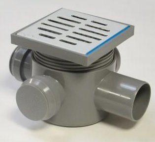 Sifon pardoseala VLR 3IN D40-1OUT D50 H80 prelungire si gratar inox