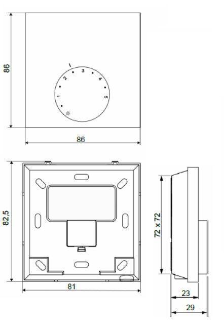 Termostat ambianta electronic 220 V
